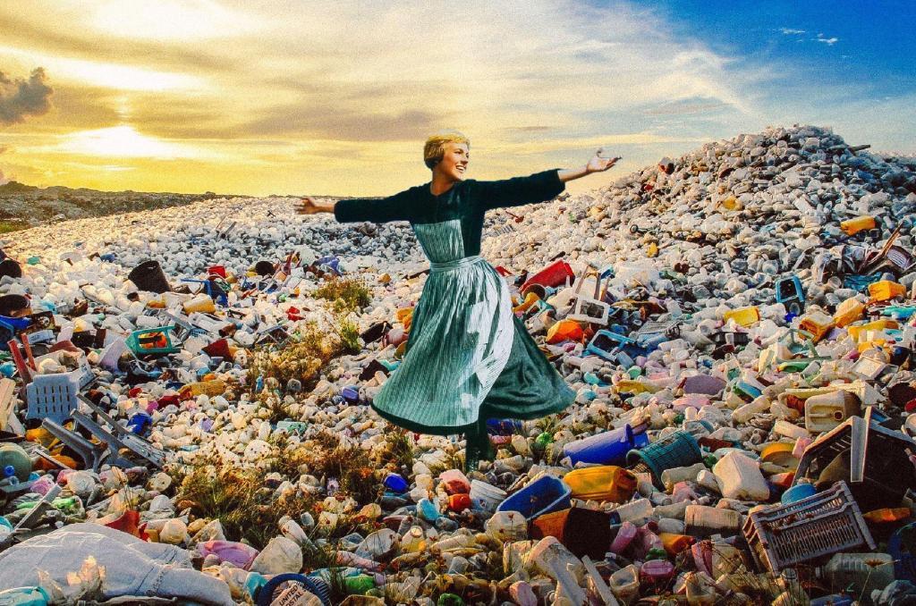 sound of music bottles pollution landfill