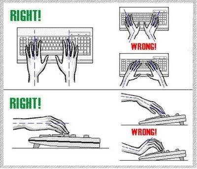 ucsd san diego proper keyboard posture